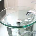 ガラス洗面化粧台